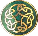 pin with Celtic design